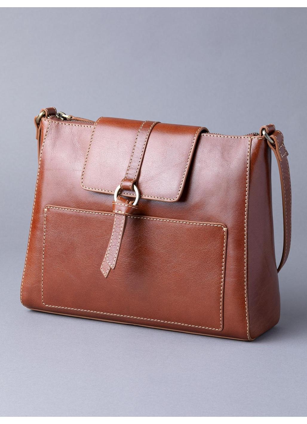 Birthwaite Leather Shoulder Bag in Cognac
