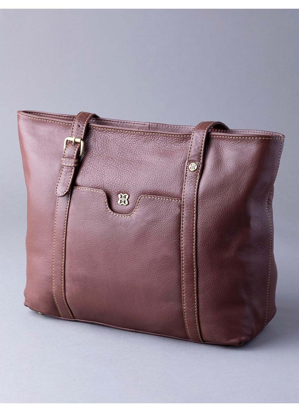 Rickerby Leather Tote Bag in Chestnut Brown