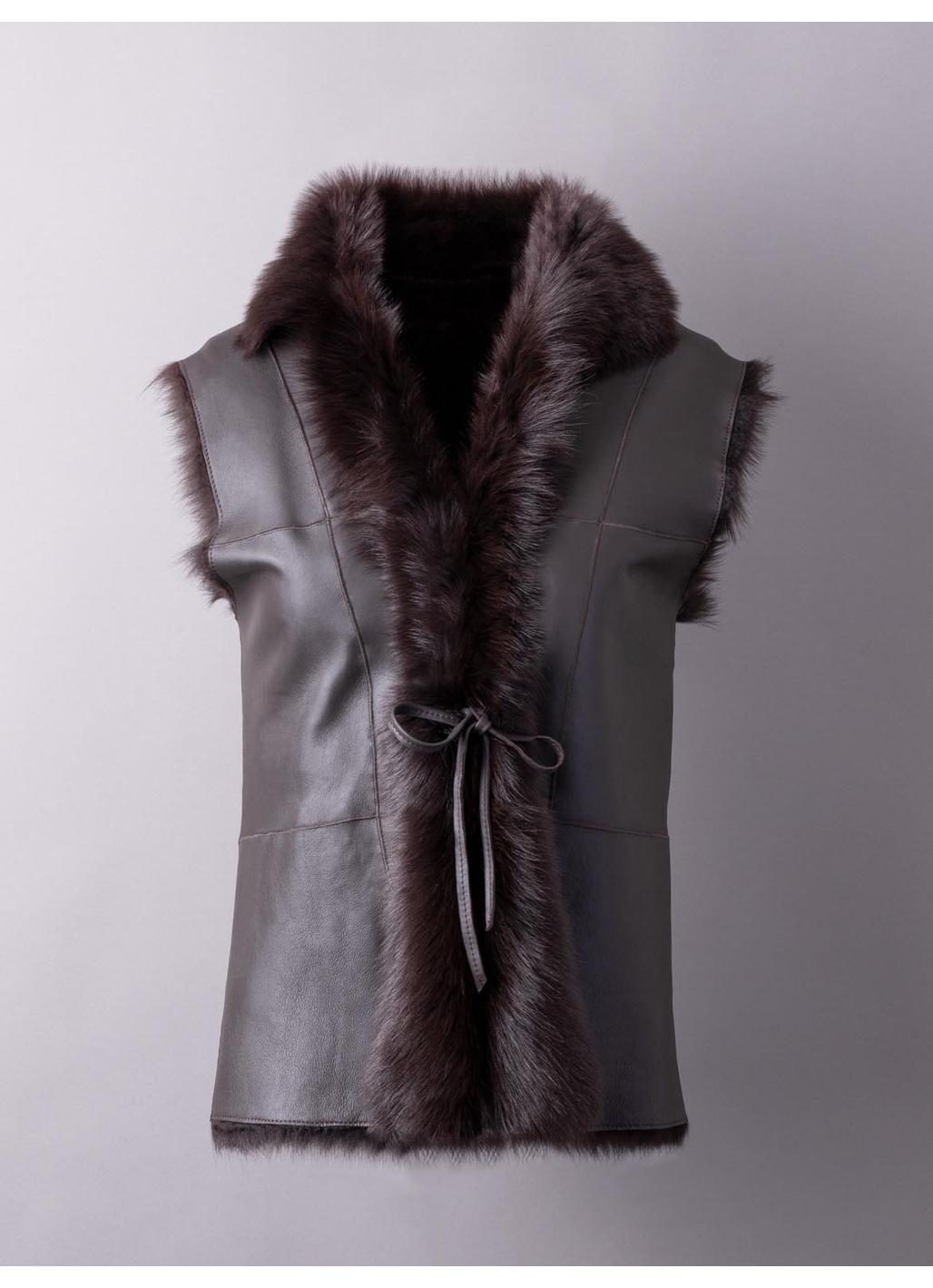 Sedgwick Toscana Sheepskin Gilet in Dark Brown