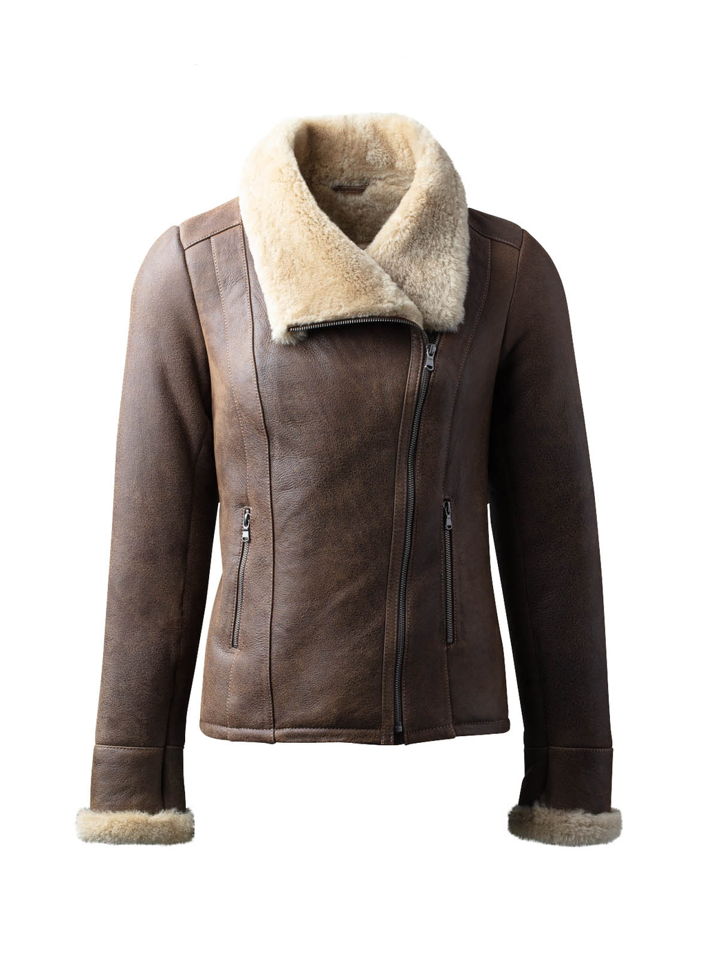 Allerby II Sheepskin Aviator Jacket in Tan