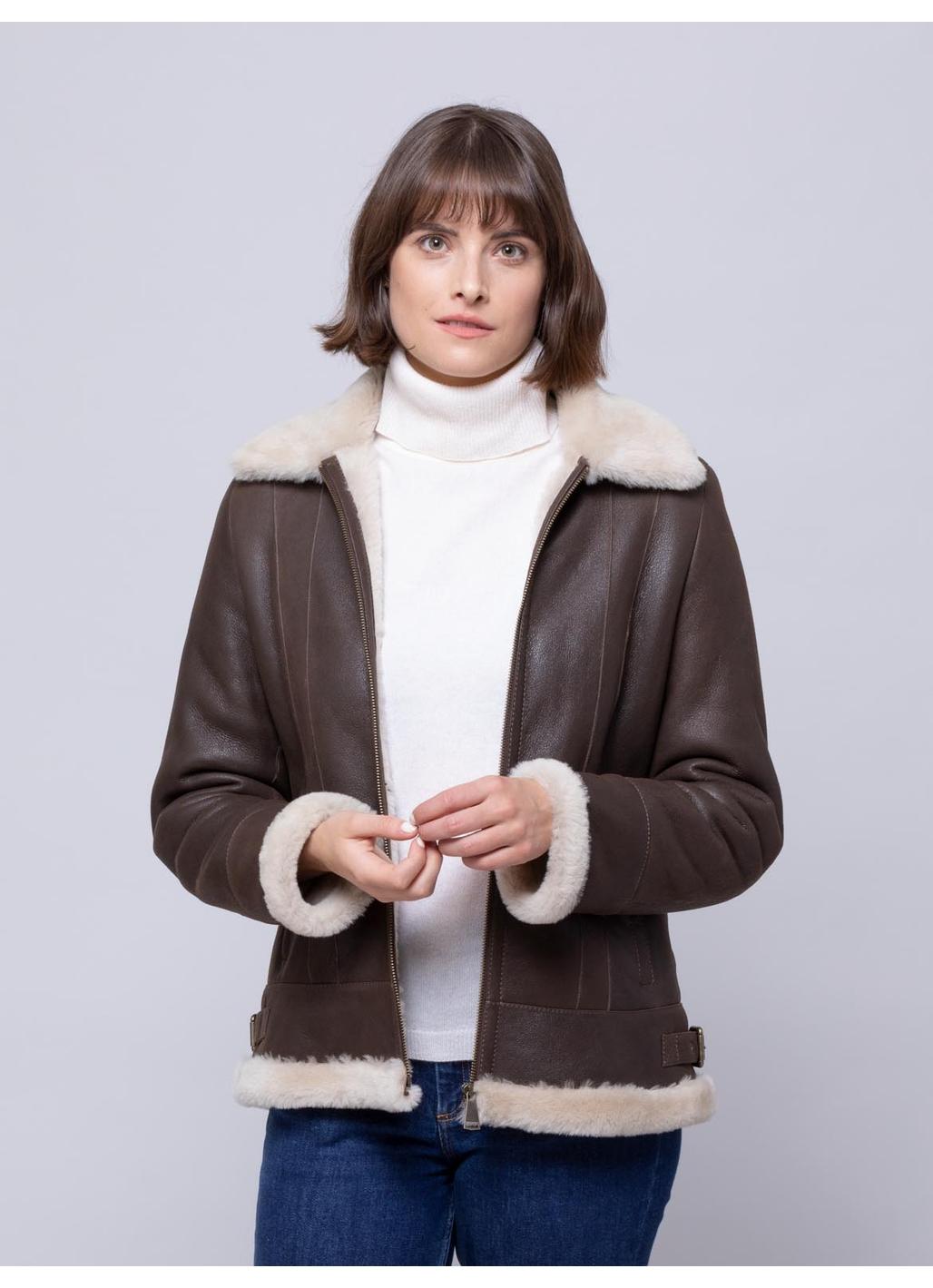 Cartmel Sheepskin Jacket in Chocolate Brown