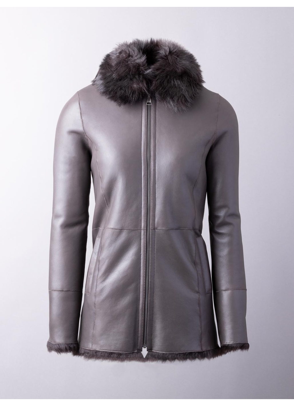 Coniston Sheepskin Coat in Dark Brown