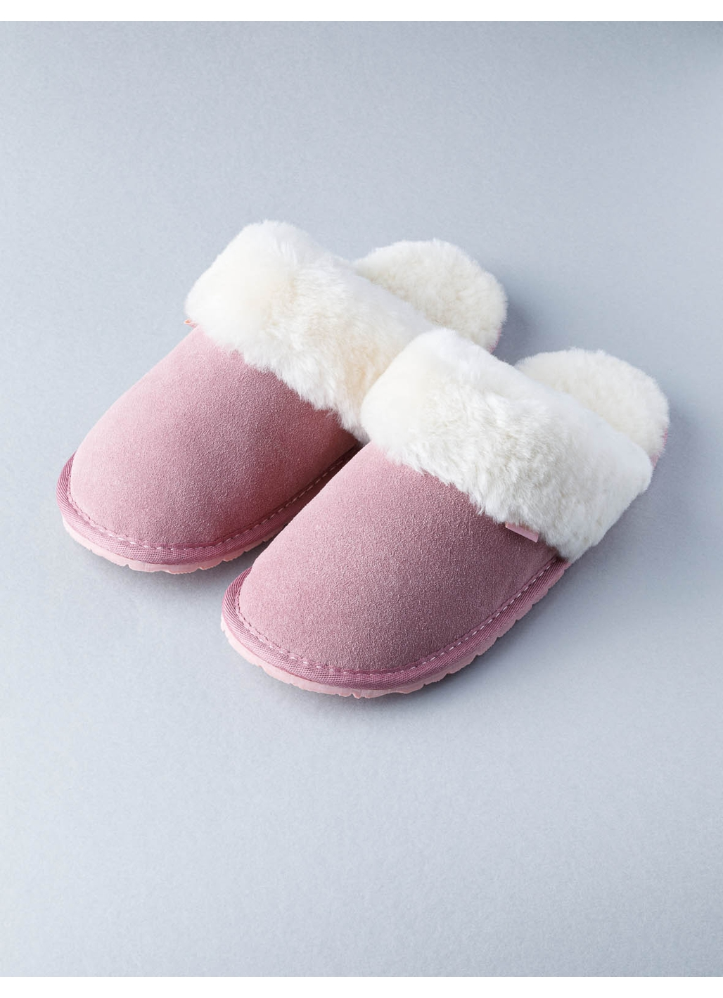 Ladies Sheepskin Slider Slippers in Pink