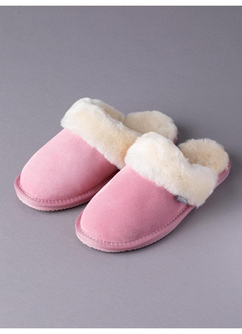 Ladies' Sheepskin Slider Slippers in Pink