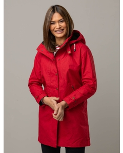 Olivia UK Waxed Cotton Jacket in Red